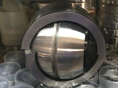Подшипники шарнирные тяжёлой серии с отверстиями и канавками для смазки на внутреннем кольце с двухразломным наружным кольцом (2ШСЛхх)