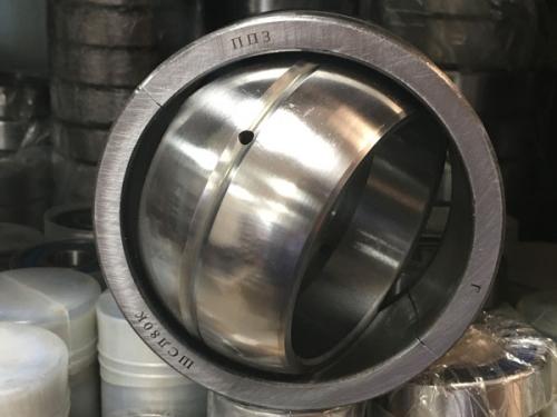 Подшипники шарнирные с отверстиями и канавками для смазки на внутреннем и наружном кольцах с двухразломным наружным кольцом (ШСЛххК)