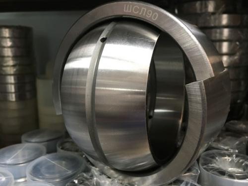 Подшипники шарнирные с отверстиями и канавками для смазки во внутреннем кольце с двухразломным наружным кольцом (ШСЛхх)