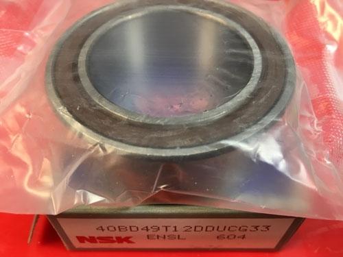 Подшипник 40BD49 T12DDUCG33 NSK компрессора кондиционера размеры 40*62*20,625