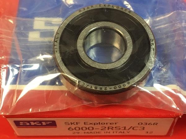 Подшипник 6000-2RS1/C3 SKF аналог 180100 размеры 10x26x8