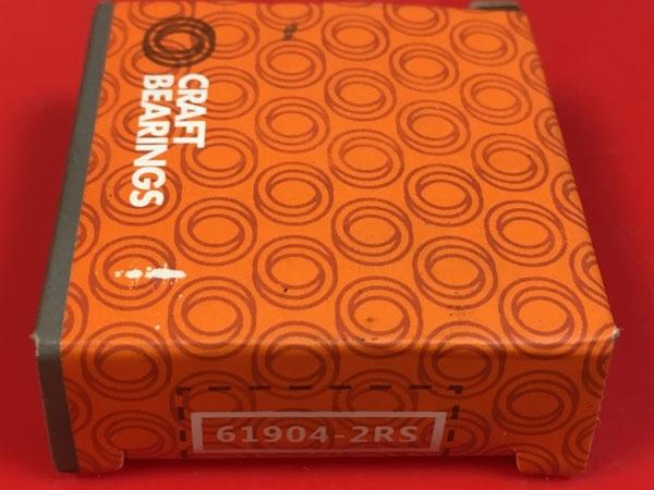 Подшипник 61904-2RS CRAFT аналог 1180904 (1000904-2RS, 6904-2RS) размеры 20*37*9