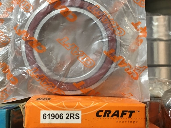 Подшипник 61906-2RS CRAFT аналог 1180906 (1000906-2RS, 6906-2RS) размеры 30х47х9