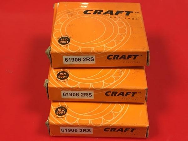 Подшипник 61906-2RS CRAFT аналог 1180906 (1000906-2RS, 6906-2RS) размеры 30*47*9