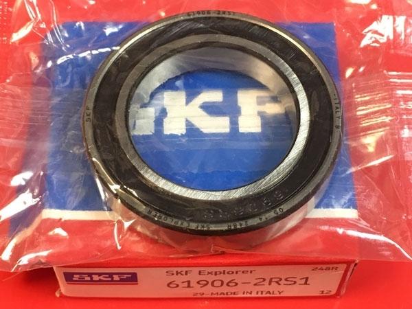 Подшипник 61906-2RS 1 SKF аналог 1180906 (1000906-2RS, 6906-2RS) размеры 30x47x9