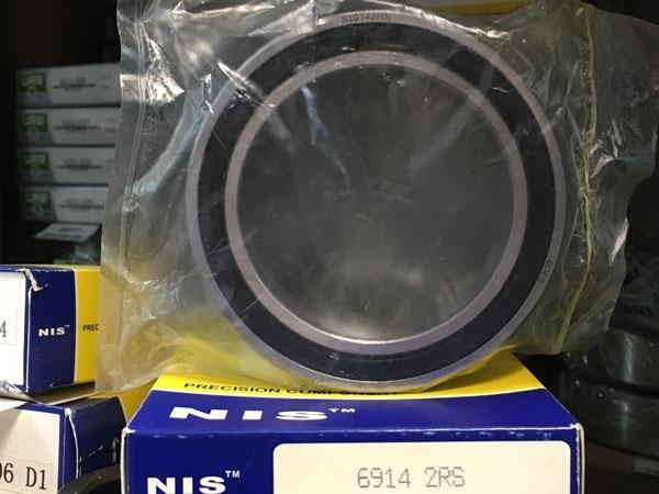 Подшипник 61914-2RS (6914-2RS) NIS аналог 1180914, 1000914-2RS размеры 70*100*16