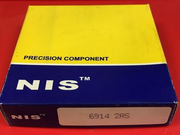 Подшипник 61914-2RS (6914-2RS) NIS аналог 1180914, 1000914-2RS размеры 70х100х16