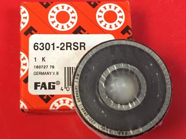 Подшипник 6301-2RS R FAG аналог 180301 размеры 12x37x12