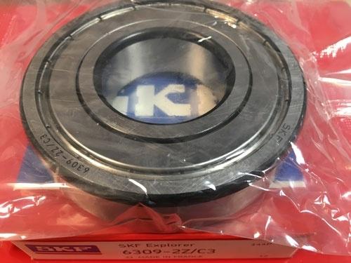 Подшипник 6309-2Z С3 SKF аналог 80309 размеры 45х100х25