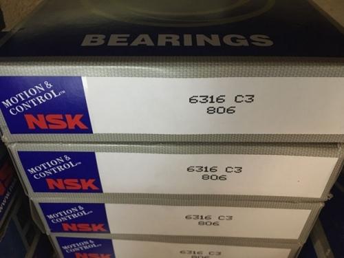 Подшипник 6316 С3 NSK аналог 316 размеры 80x170x39
