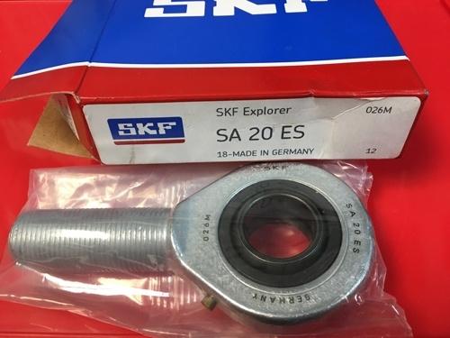 Наконечник штока с наружной резьбой SA 20 ES SKF размеры 20х54х16/M20х1,5