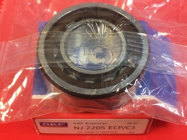 Подшипник NJ2205 ECP/C3 SKF аналог 42505 размеры 25х52х18