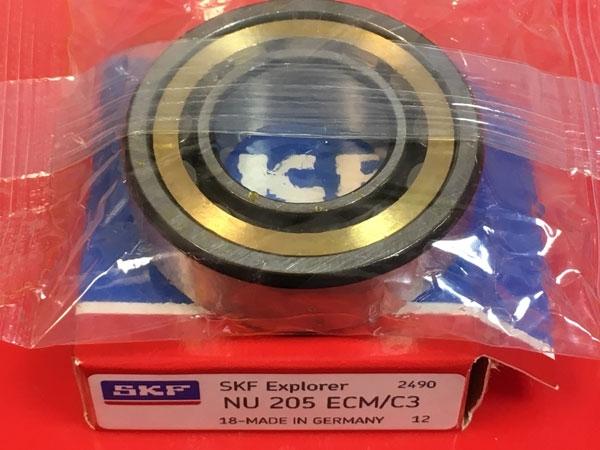 Подшипник NU205 ECM C3 SKF аналог 32205 Л размеры 25*52*15
