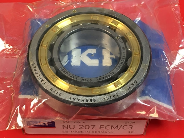 Подшипник NU207 ECM C3 SKF аналог 32207 Л размеры 35x72x17