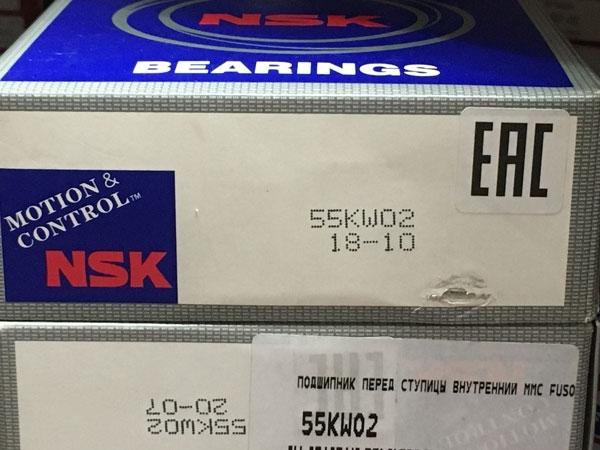 Подшипник 55KW02 NSK размеры 55х105х36