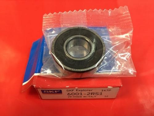 Подшипник 6001-2RS 1 SKF аналог 180101 размеры 12х28х8