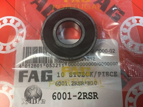 Подшипник 6001-2RS R FAG аналог 180101 размеры 12х28х8
