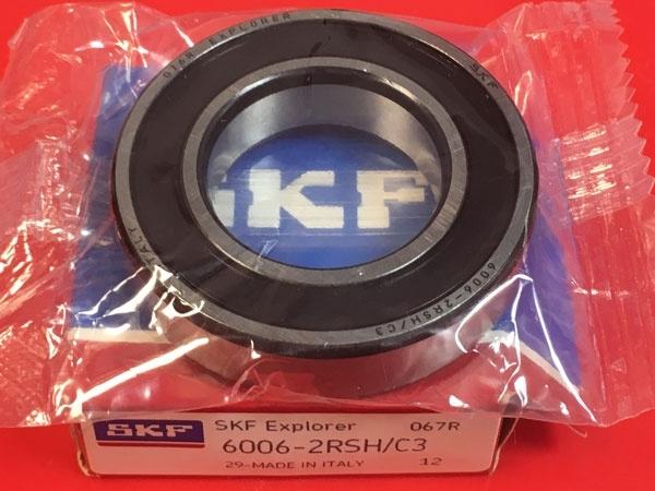 Подшипник 6006-2RS H C3 SKF аналог 180106 размеры 30x55x12
