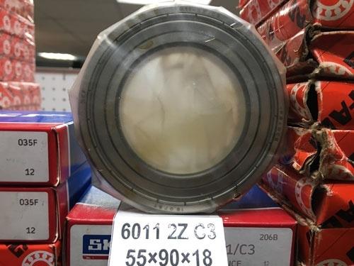 Подшипник 6011-2Z C3 SKF аналог 80111 размеры 55х90х18