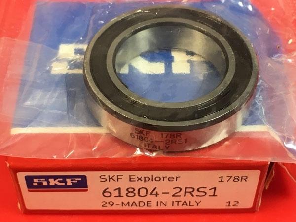 Подшипник 61804-2RS 1 SKF аналог 1180804 (1000804-2RS, 6804-2RS) размеры 20x32x7