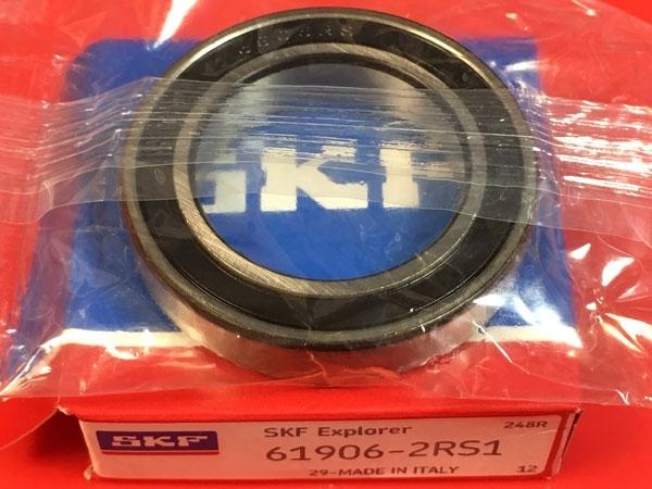 Подшипник 61906-2RS 1 SKF аналог 1180906 (1000906-2RS, 6906-2RS) размеры 30*47*9