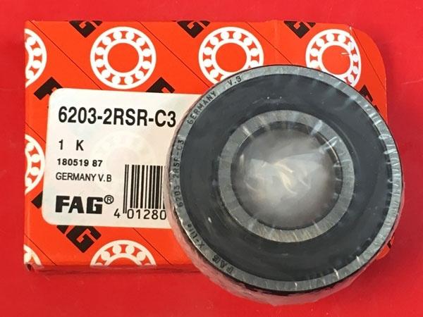 Подшипник 6203-2RS R С3 FAG аналог 180203 размеры 17x40x12