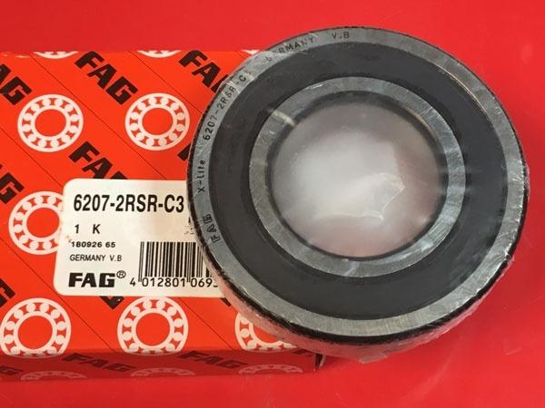 Подшипник 6207-2RS R C3 FAG аналог 180207 размеры 35x72x17
