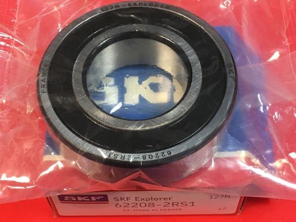 Подшипник 62208-2RS 1 SKF аналог 180508 размеры 40x80x23