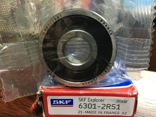 Подшипник 6301-2RS 1 SKF аналог 180301 размеры 12x37x12