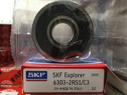 Подшипник 6303-2RS 1 С3 SKF аналог 180303 размеры 17х47х14