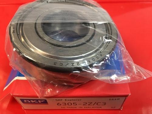 Подшипник 6305-2Z C3 SKF аналог 80305 размеры 25х62х17