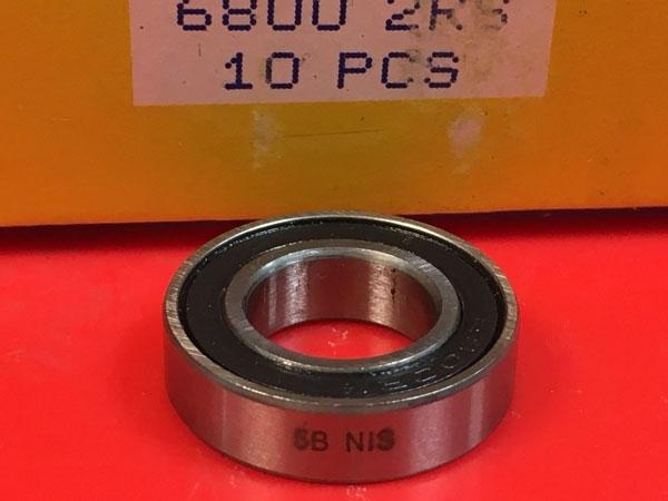 Подшипник 6800-2RS NIS аналоги 61800-2RS, 1180800, 1000800-2RS размеры 10x19x5