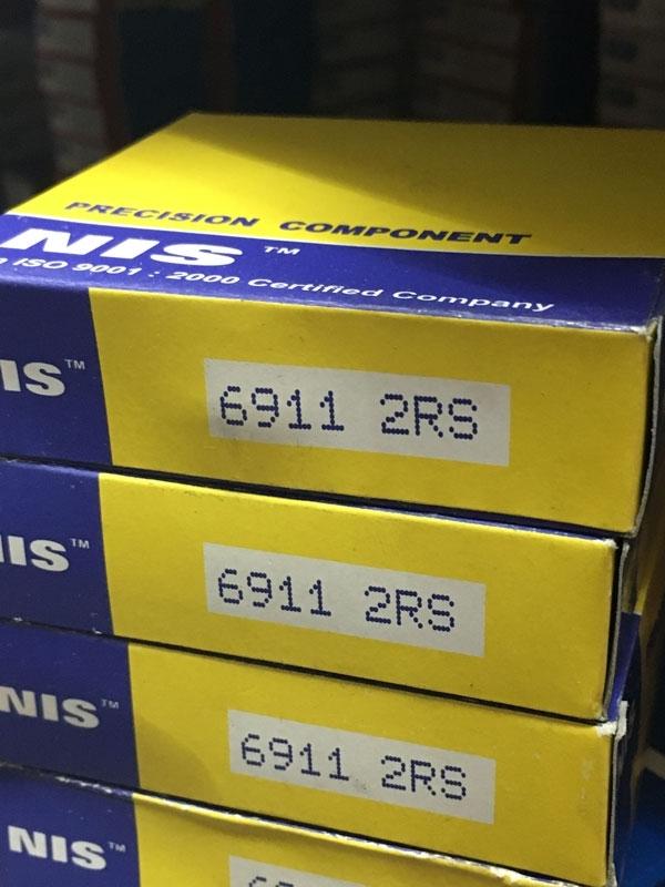 Подшипник 6911-2RS NIS аналоги 1180911, 61911-2RS, 1000911-2RS размеры 55x80x13