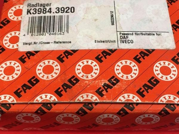 Подшипник K3984-J42B/K3920-J42B (K3984.3920) FAG размеры 66,675*112,712*30,048