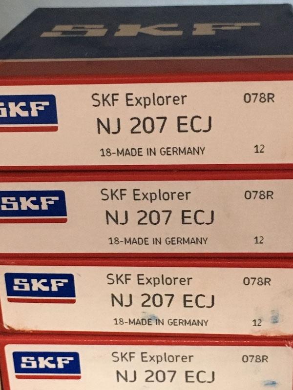 Подшипник NJ207 ECJ SKF аналог 42207 размеры 35х72х17