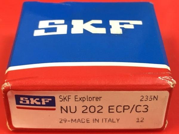 Подшипник NU202 ECP/C3 SKF аналог 32202 размеры 15х35х11