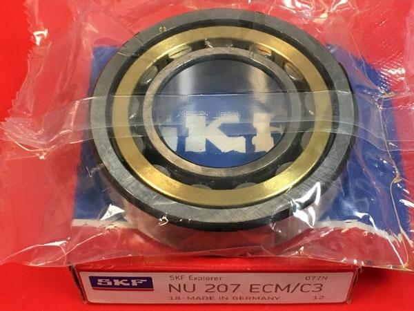 Подшипник NU207 ECM C3 SKF аналог 32207 Л размеры 35*72*17
